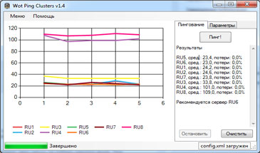 WOT Pinger 0.9.13 - пинг серверов World of Tanks